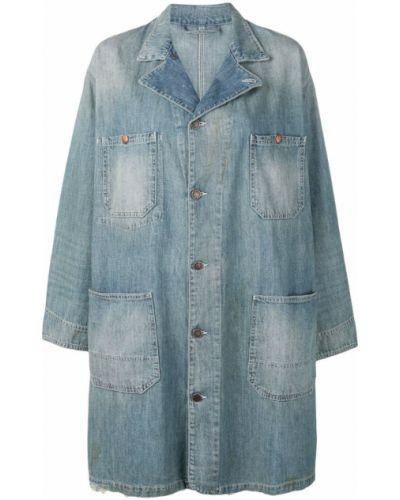 Синяя джинсовая куртка свободного кроя на пуговицах 6397