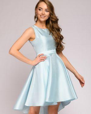 Коктейльное платье с поясом на молнии 1001 Dress
