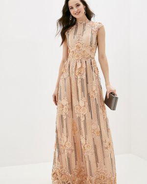 Вечернее платье бежевое весеннее Soky & Soka