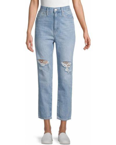 Хлопковые прямые джинсы с карманами Madewell
