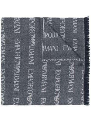 Biały szalik wełniany Emporio Armani