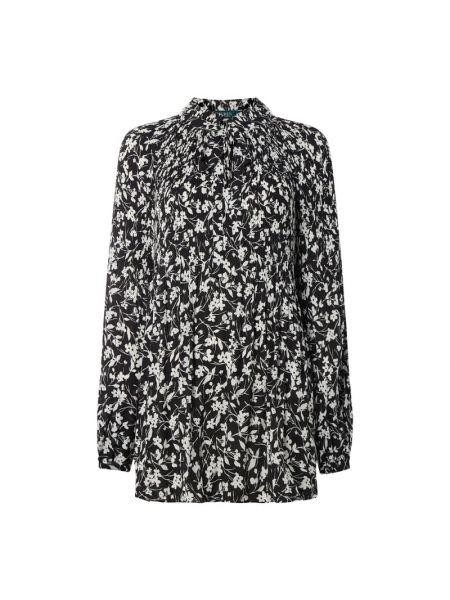 Bluzka z długim rękawem w kwiatowe wzory z wzorem Lauren Ralph Lauren Curve