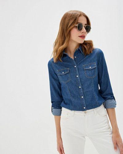 Синяя джинсовая рубашка с запахом Iwie