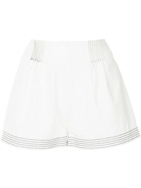 Однобортные белые шорты Suboo