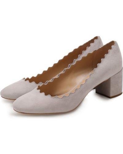 Кожаные туфли замшевые Chloé