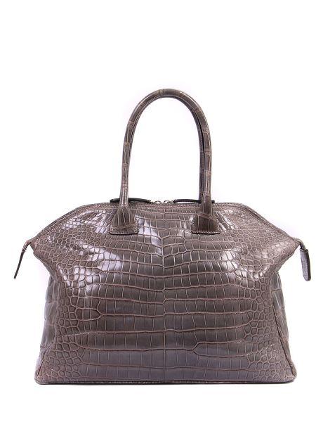 Кожаная сумка с ручками на молнии Zagliani