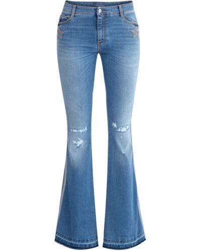 Расклешенные джинсы с вышивкой винтажные Ermanno Scervino
