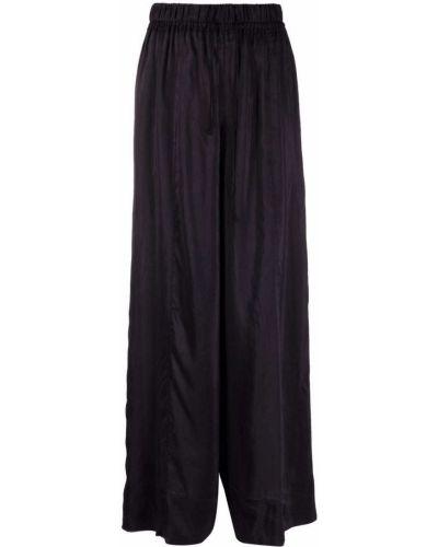 С завышенной талией шелковые черные брюки Forte Forte