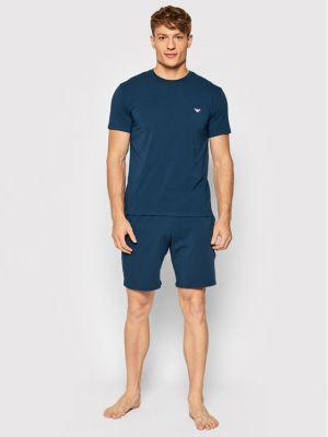Piżama - niebieska Emporio Armani Underwear