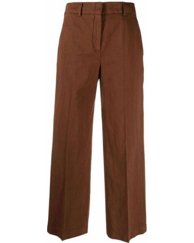 Расклешенные с завышенной талией коричневые брюки Incotex