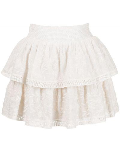 Хлопковая юбка мини с завышенной талией на шпильке Alice+olivia