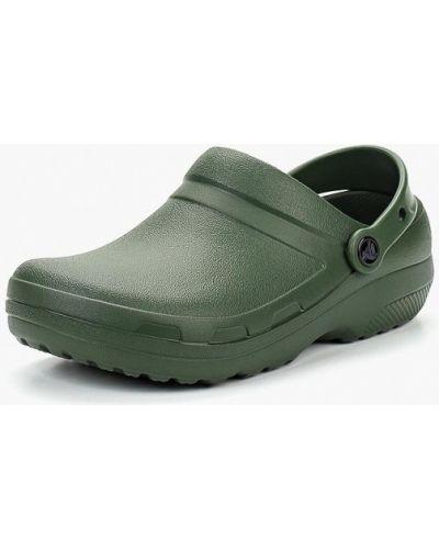 Зеленые сабо Crocs