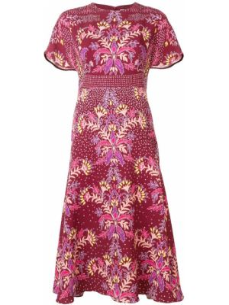 Платье мини миди с цветочным принтом Peter Pilotto