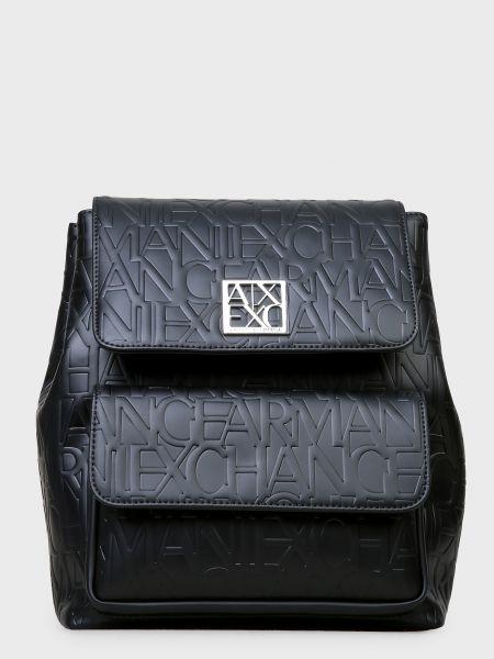 Кожаный рюкзак - черный Armani Exchange