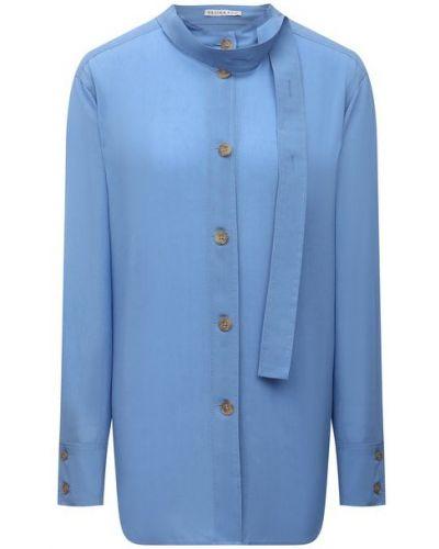 Рубашка из вискозы - синяя Rejina Pyo