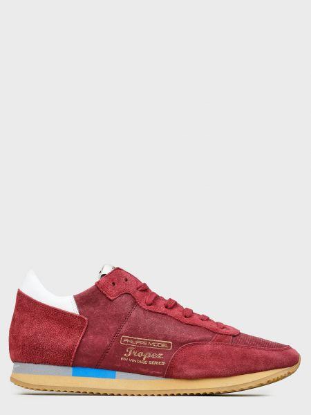 Кожаные кроссовки - красные Philippe Model