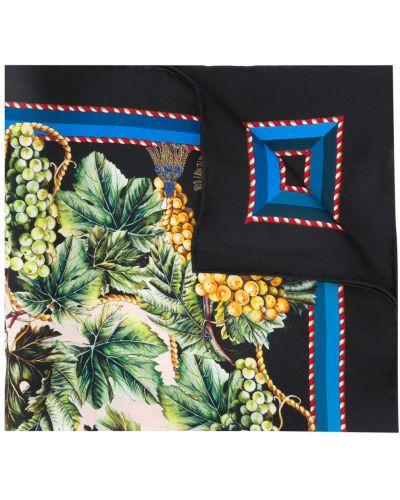 Черный шелковый платок Dolce & Gabbana