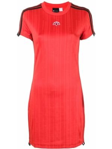 Платье мини короткое - красное Adidas Originals By Alexander Wang