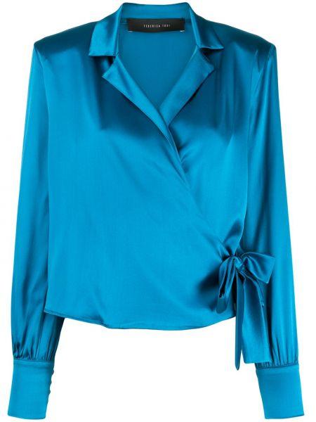 Блузка с запахом с воротником-стойкой Federica Tosi