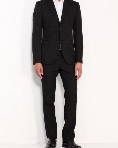 Костюмный черный костюм классический Stenser