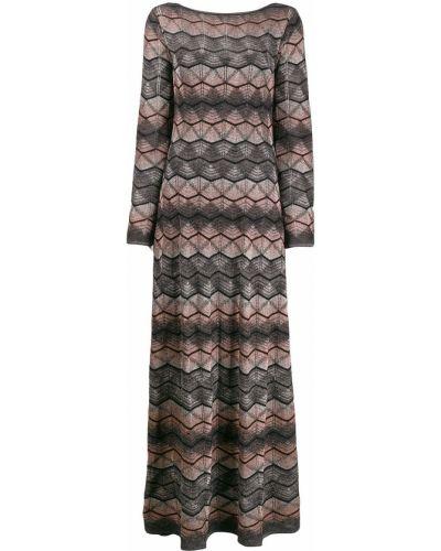 Платье макси с открытой спиной с завышенной талией Missoni