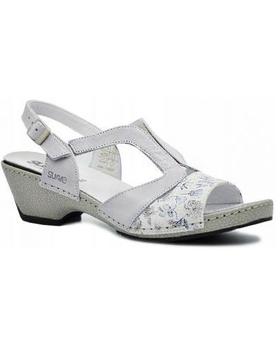 Klasyczne szare sandały skorzane Comfortabel