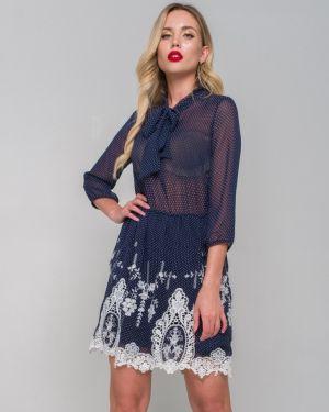 Вечернее платье летнее в горошек Ellcora