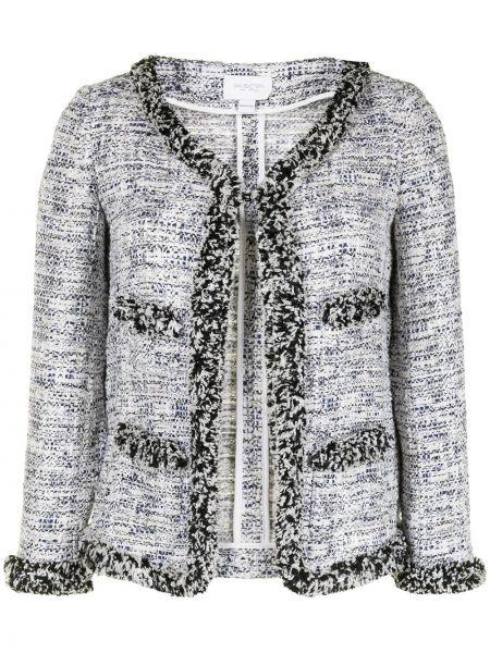 Пиджак твидовый с вырезом со вставками Giambattista Valli