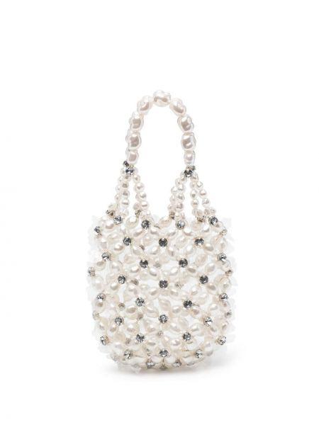Biała torebka mini perły z akrylu Simone Rocha