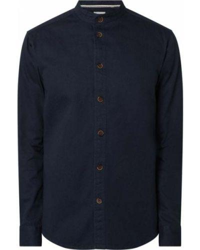 Niebieska koszula bawełniana z długimi rękawami Anerkjendt