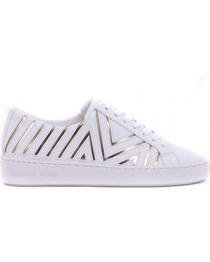 Кеды белые на шнуровке Michael Kors