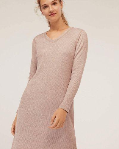 Платье розовое осеннее Oysho