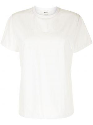 Хлопковая прямая белая футболка Bally