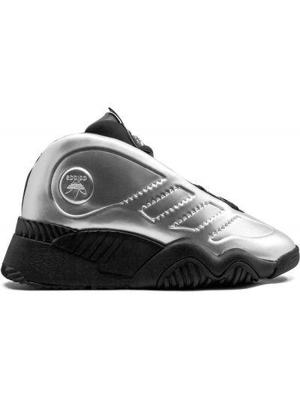Серебряные кроссовки на шнуровке с нашивками Adidas Originals By Alexander Wang
