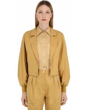 Пиджак из габардина на пуговицах Nina Ricci