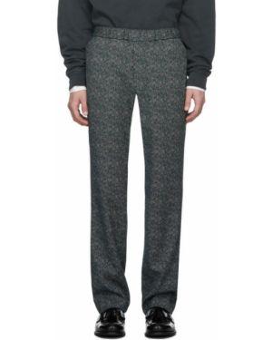 Брючные серебряные брюки с карманами жаккардовые Schnaydermans