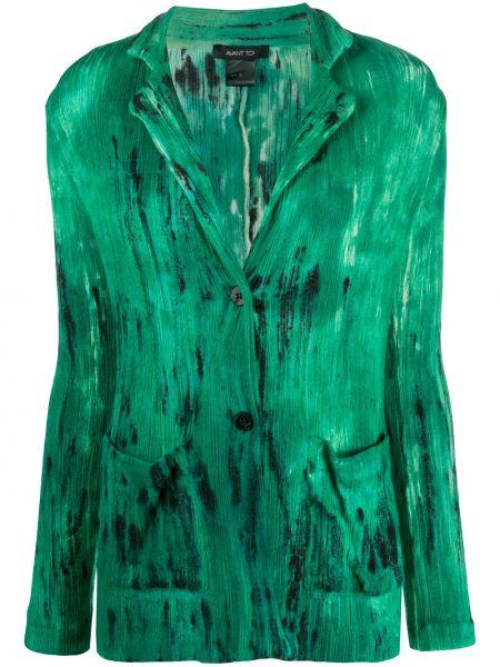 Кашемировая зеленая куртка с воротником Avant Toi