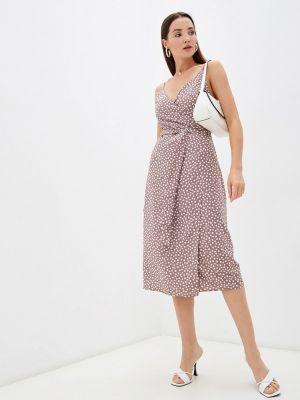 Коричневое платье осеннее Imocean