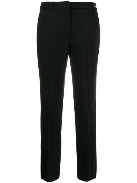 Черные брюки с поясом узкого кроя John Richmond