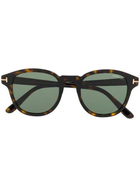Солнцезащитные очки круглые стеклянные Tom Ford Eyewear