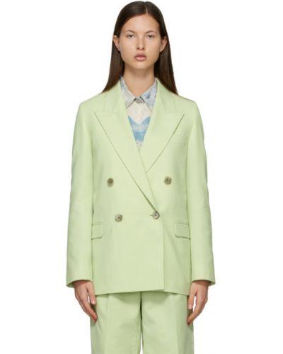 Zielony garnitur wełniany z długimi rękawami Acne Studios