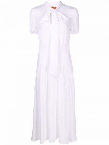 Шелковое платье миди - белое N°21