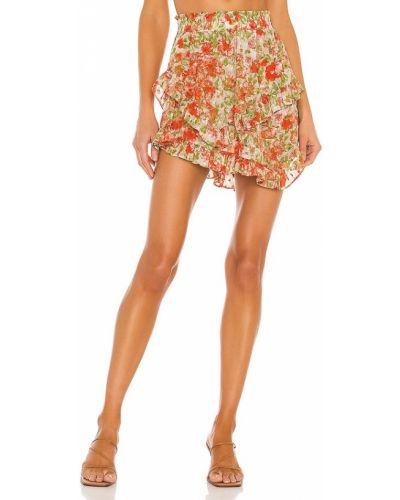 Оранжевая шифоновая юбка Misa Los Angeles