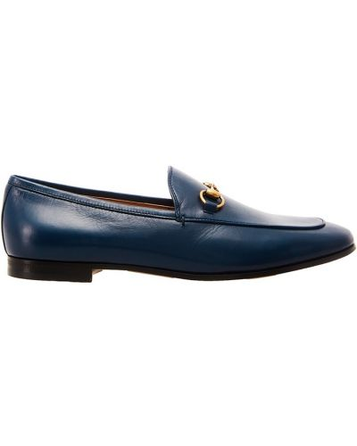 Лоферы на каблуке кожаные Gucci