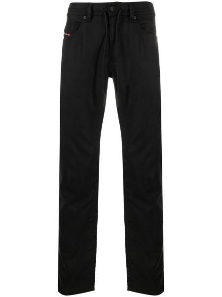 Bawełna bawełna czarny jeansy z kieszeniami Diesel