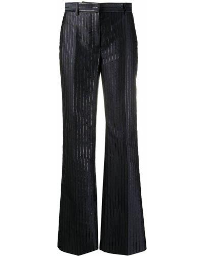 Синие расклешенные брюки с потайной застежкой металлические Alberta Ferretti