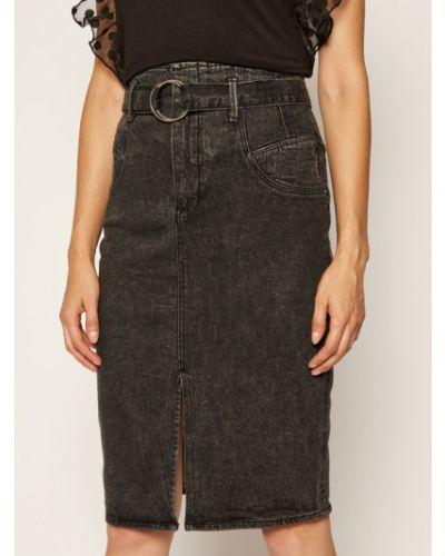 Szara spódnica jeansowa Guess