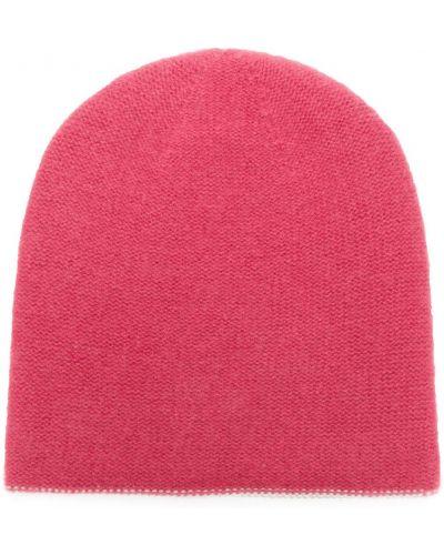 Розовая теплая шапка бини Warm-me