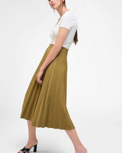 Zielona spódnica midi z wiskozy Orsay