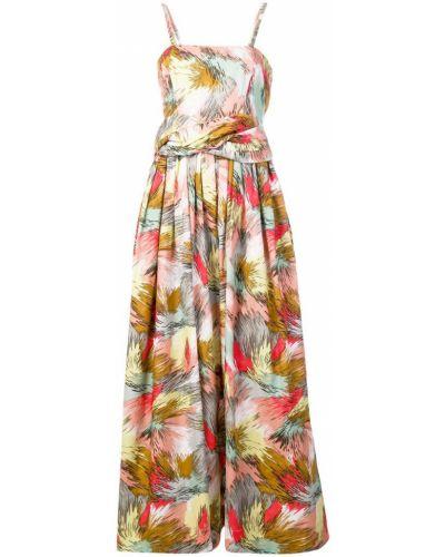 Платье макси розовое на бретелях Missoni